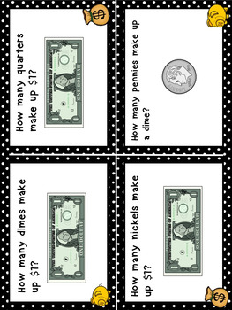 Money Task Cards Higher Order Thinking HOTS Grades 1 and 2 US