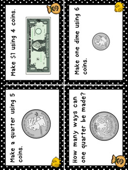 Money Task Cards Higher Order Thinking HOTS Grades 3 and 4 US