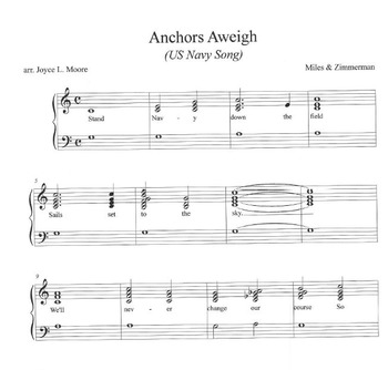 US NAVY HYMN & US NAVY SONG Two Easy Chimes & Bells Arrangements
