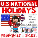 US National Holdiays