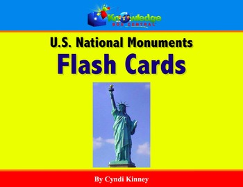 US National Monuments Flash Cards - For Tablets