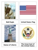 U.S. National Symbols 3-Part Cards