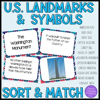 Us National Symbols And Landmarks Task Cards By Curious Classroom