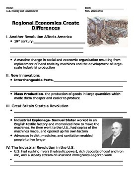 US Nationalism and Sectionalism Student notes