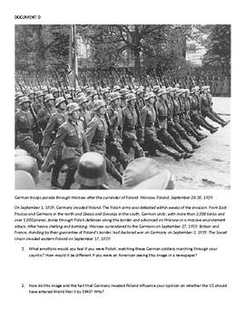 US Neutrality Before WWII (DBQ)