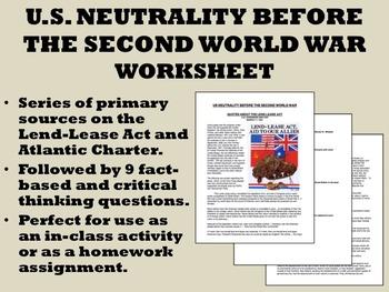 US Neutrality Before World War II - APUSH/US History/Globa