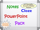 U.S. Neutrality and Rise of Global Fascism PowerPoint, Notes, and Cloze Sheets