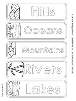 U.S. Southeastern Region Interactive Notebook: Grades 3-5