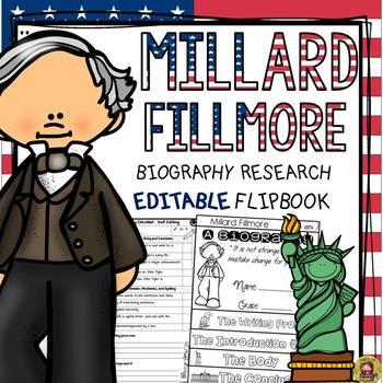 US PRESIDENT: MILLARD FILLMORE: RESEARCH FLIPBOOK