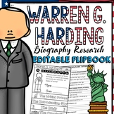 US PRESIDENT: WARREN G. HARDING: BIOGRAPHY FLIPBOOK: RESEARCH
