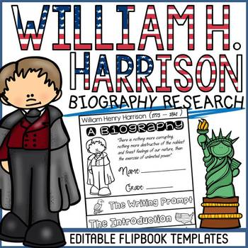 US PRESIDENT: WILLIAM HENRY HARRISON: BIOGRAPHY FLIPBOOK: RESEARCH