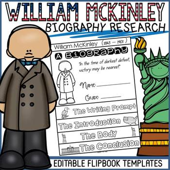 US PRESIDENT: WILLIAM MCKINLEY: BIOGRAPHY FLIPBOOK: RESEARCH