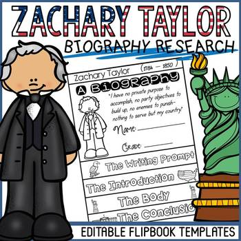 US PRESIDENT: ZACHARY TAYLOR: BIOGRAPHY FLIPBOOK: RESEARCH