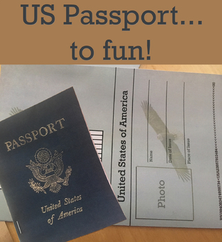 US Passport Template by FoxFamily4   Teachers Pay Teachers