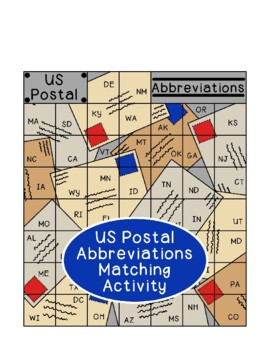 US Postal Abbreviations Puzzle Letter Writing Addresses Extension Activity