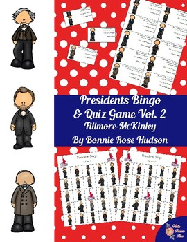 U.S. Presidents Bingo and Quiz Game, Volume 2