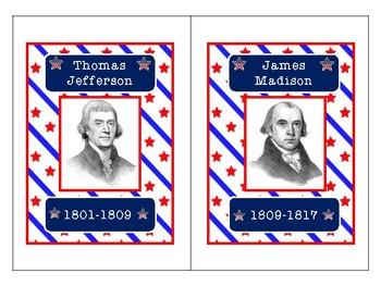 US Presidents Flash Cards & Timeline Activity
