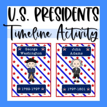 American Presidents Timeline Cards