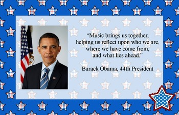 US President Music Advocacy Bulletin Board