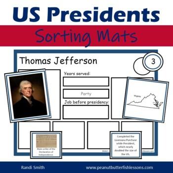US President Sorting Mats: Full Set of 45 Presidents