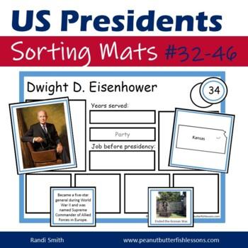 US President Sorting Mats: Presidents 31-45