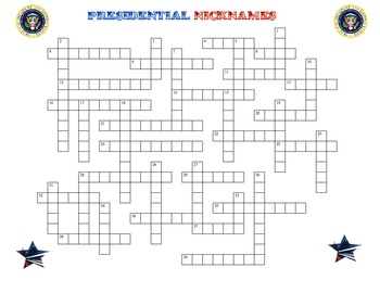 Hands on History-U.S. President and Nicknames Puzzle, Crossword, and Flashcards