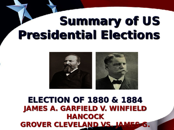 US Presidential Elections - Election of 1880 & 1884 - Garfield-Cleveland