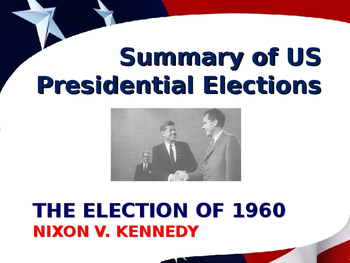 US Presidential Elections - Election of 1960 - Kennedy