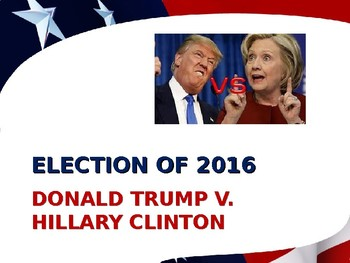 US Presidential Elections - Election of 2016 - Trump