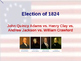 US Presidential Elections - Election of 1824 - JQ Adams