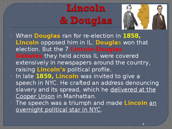 US Presidential Elections - Election of 1860 - Lincoln