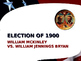 US Presidential Elections - Election of 1900 & 1904 - McKi