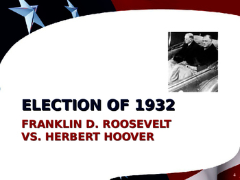 US Presidential Elections - Election of 1932, 1936, 1940 & 1944 - FDR