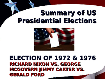 US Presidential Elections - Election of 1972 & 1976 - Nixon-Carter