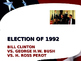 US Presidential Elections - Election of 1992 & 1996 - Clinton