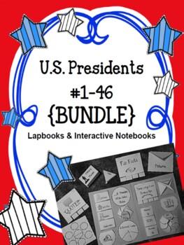 {BUNDLE} US Presidents #1-44 Lapbooks {BUNDLE}