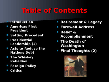 US Presidents - #1 - George Washington - Summary