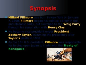 US Presidents - #13 - Millard Fillmore - Summary
