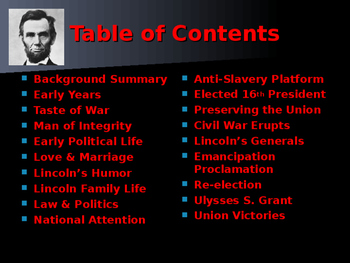 US Presidents - #16 - Abraham Lincoln - Summary