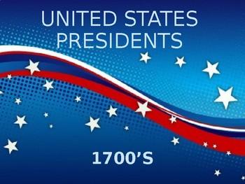 US Presidents 1700's