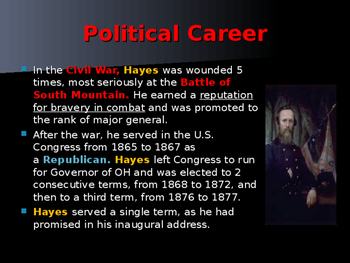 US Presidents - #19 - Rutherford B Hayes - Summary