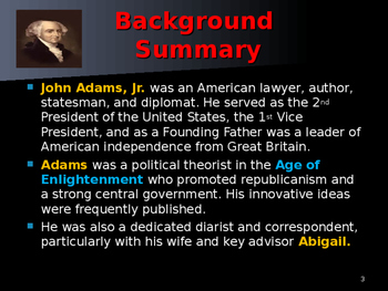 US Presidents - #2 - John Adams - Summary