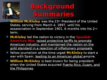 US Presidents - #25 - William McKinley - Summary
