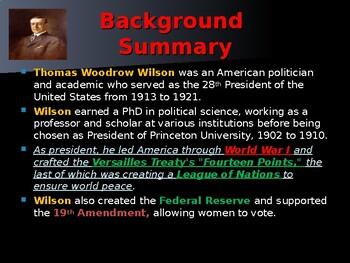 US Presidents - #28 - Woodrow Wilson - Summary