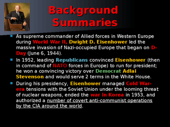 US Presidents - #34 - Dwight D Eisenhower - Summary