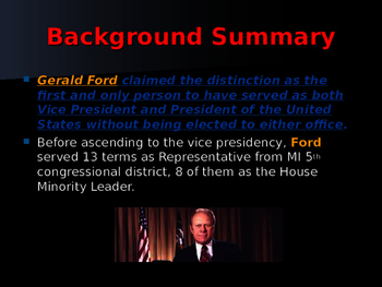 US Presidents - #38 - Gerald R Ford - Summary