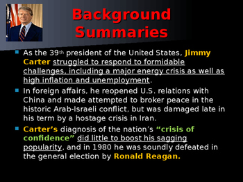 US Presidents - #39 - Jimmy Carter - Summary