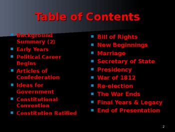 US Presidents - #4 - James Madison - Summary