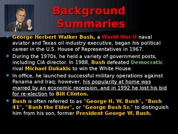 US Presidents - #41 - George HW Bush - Summary