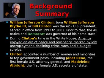 US Presidents - #42 - Bill Clinton - Summary